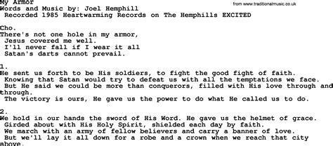 armour song my armor apostolic and pentecostal hymns and songs lyrics and pdf
