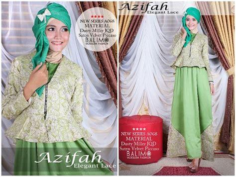 Kenna By Baenetta balimo azifah green leaft baju muslim gamis modern