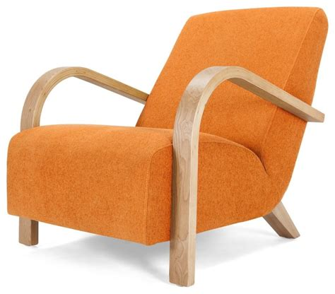 grace armchair lava orange modern armchairs accent