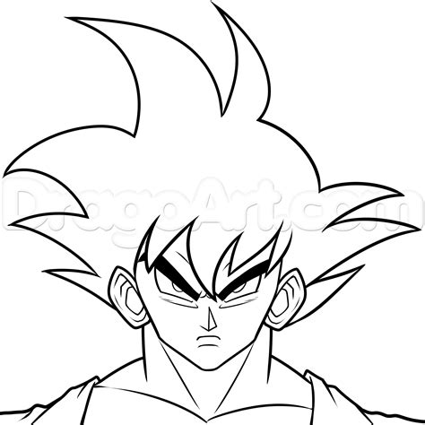 simple drawing how to draw goku step by step z