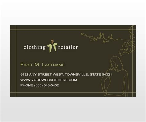 garments business cards templates sles of botique stores pics studio design gallery