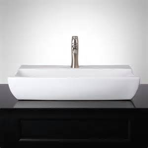 small rectangle bathroom sink liais rectangular vessel sink ebay