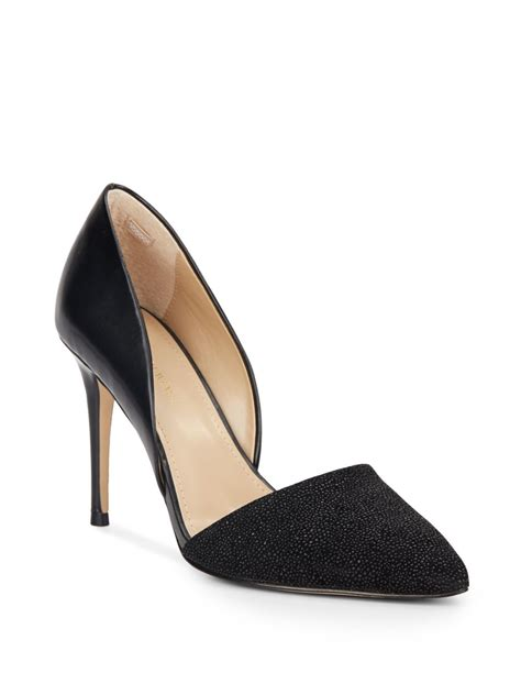 saks fifth avenue felicity beaded leather pumps in black