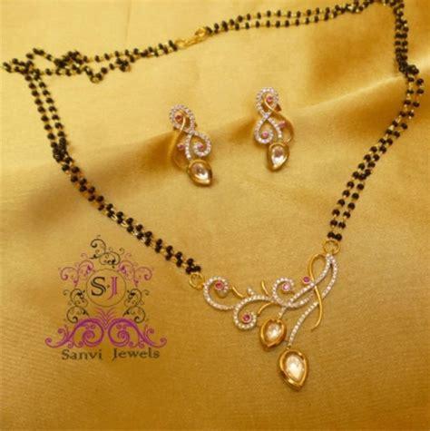 Decorative Beads For Vases Buy Designer Fusion Kundan Mangalsutra Online