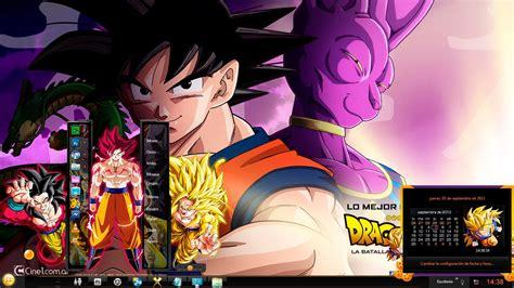 imagenes de goku para windows 7 tema para windows 7 187 dragon ball z la batalla de los