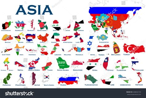 world map with country name and flag high detailed editable maps and flags on white background