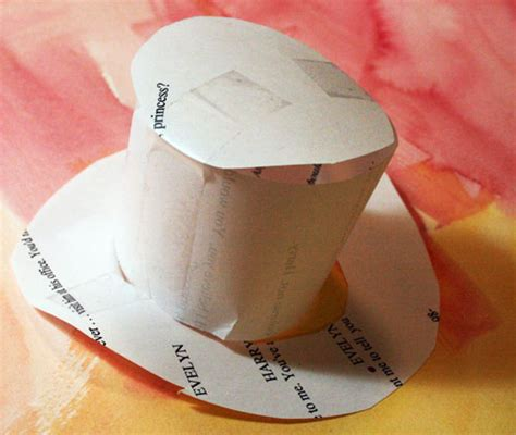 How To Make A Top Hat Out Of Paper - balzer designs a headband hat