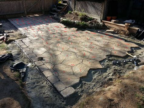 Cost To Build A Concrete Patio Tired Of Grilling On The Lawn Decided To Build A Paver