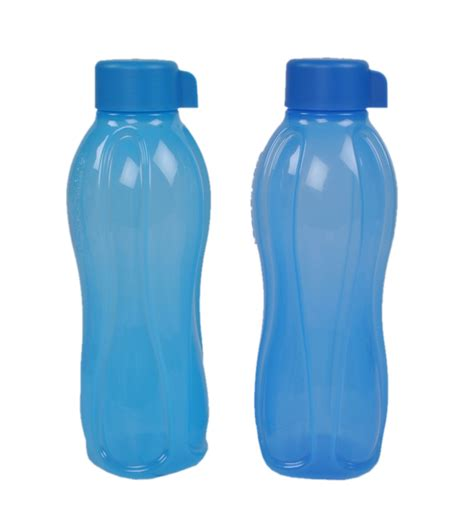 Tupperware Botol 1 Liter tupperware 1 litre water bottle set of 2 bottles shaped blue by tupperware