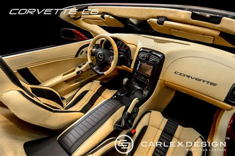 Custom Corvette Interior corvette c6 custom interior pepper vanilla photo gallery autoevolution
