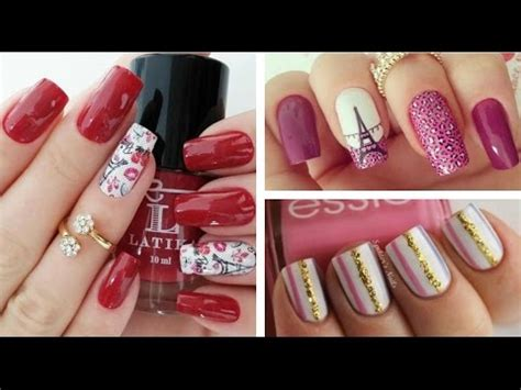 imagenes de uñas decoradas sencillas pero bonitas u 241 as decoradas con esmalte sencillas y bonitas youtube