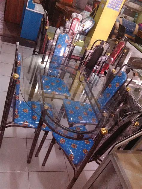 Meja Makan Yogyakarta jual meja makan kaca besi 4 kursi ajeg mebel jogja