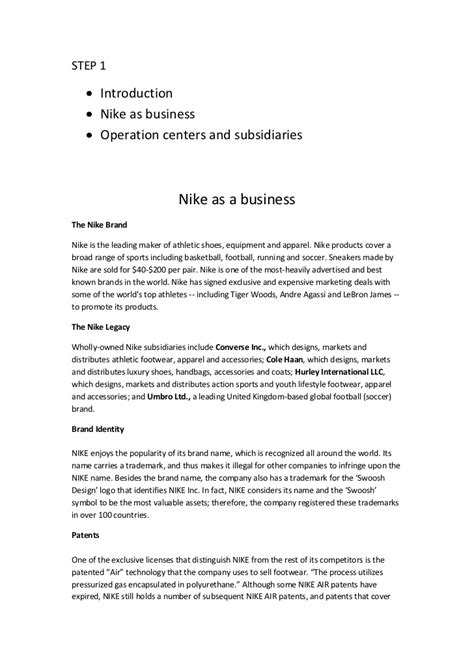 cover letter for nike sle essays sle essay 2 act student assignment
