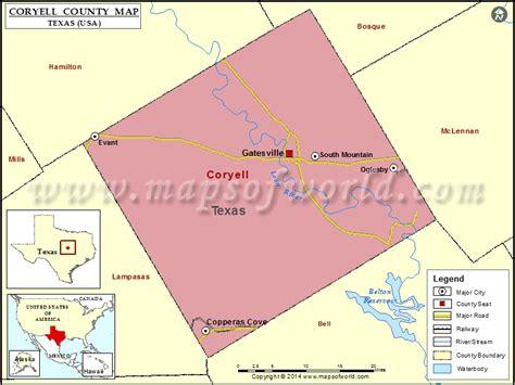 coryell county texas map coryell county map map of coryell county texas