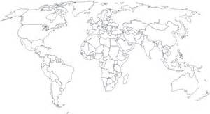 World Map White by World Travel Travel Diary