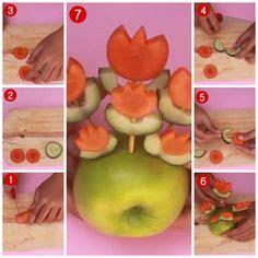 tutorial membuat salad buah cara membuat garnish dari buah sayur dan cokelat bentuk
