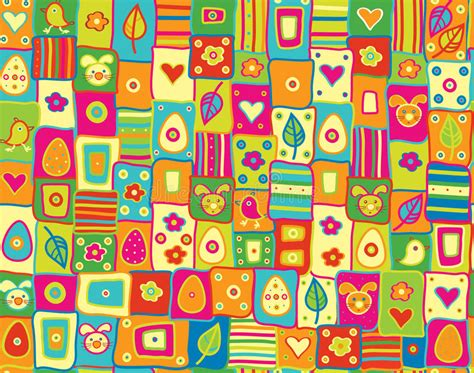 pattern cute illustrator vector cute seamless pattern happy easter stock vector
