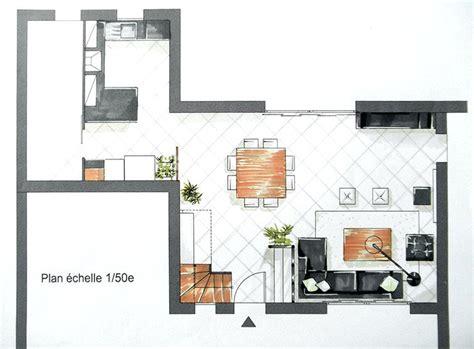 plan de cuisine ouverte sur salle à manger plan cuisine ouverte finest plan cuisine en u plan
