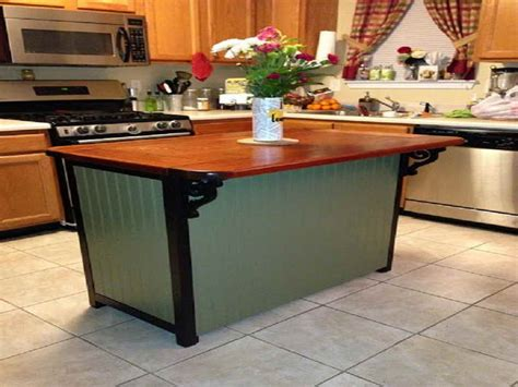 build kitchen island table how to build a kitchen island from a table just b cause