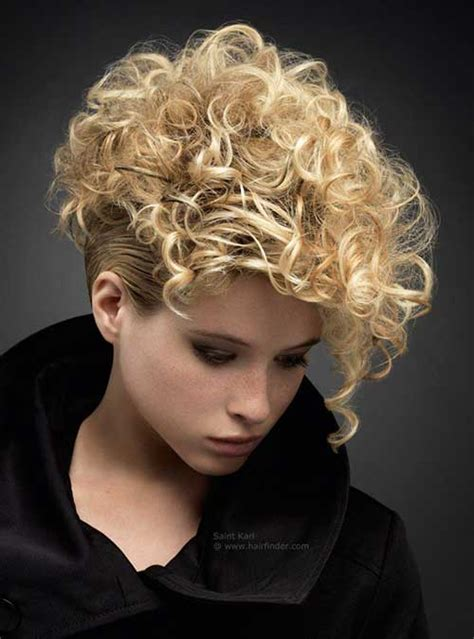 short haircuts  curly hair