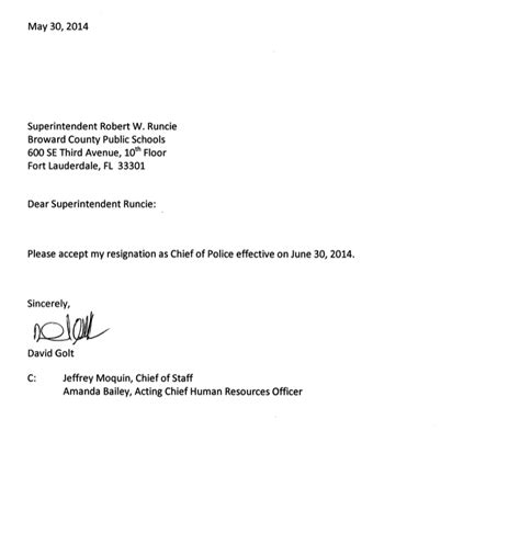 Resignation Letter Sle For Security Guard Schools Chief Out In Shake Up Browardbeat Politics News Views By Buddy Nevins