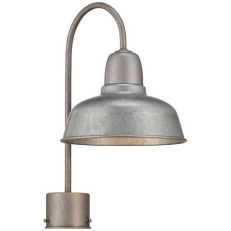 Galvanized Outdoor Lighting Barn 8 1 2 Quot Wide Galvanized Outdoor Post Light 4m522 Www Lsplus