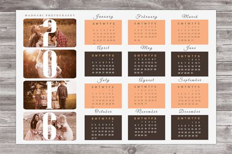 custom calendar templates for photoshop elements 15 photo calendars psd eps