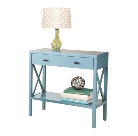 teal sofa table teal console table small console table in teal safavieh