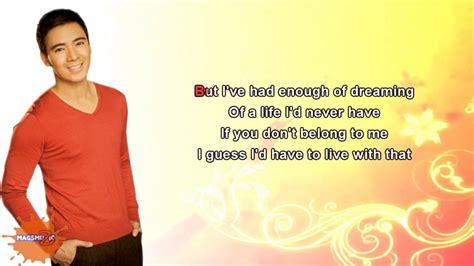 lyrics erik santos this song is for you by erik santos lyrics on screen