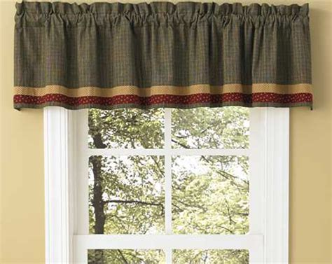 Lined Kitchen Curtains Hearth Home Lined Border Valance Black Kitchen Valances