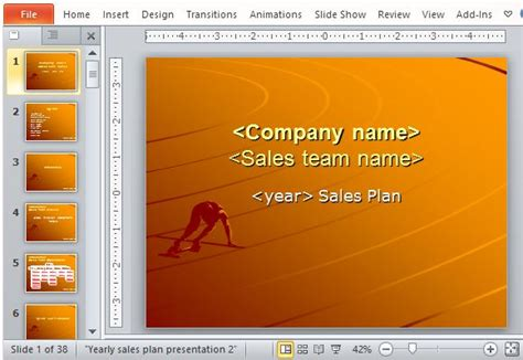 Free Sales Plan Templates For Powerpoint Sales Plan Template Powerpoint