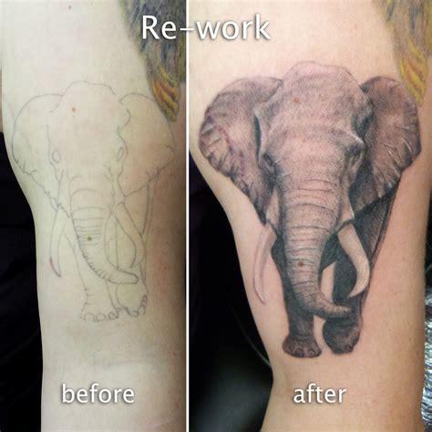 elephant link tattoo elephant tattoo coverup by adalbert on deviantart