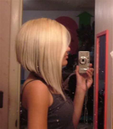 dramatic short back long front bob do you think an a line haircut could work for me