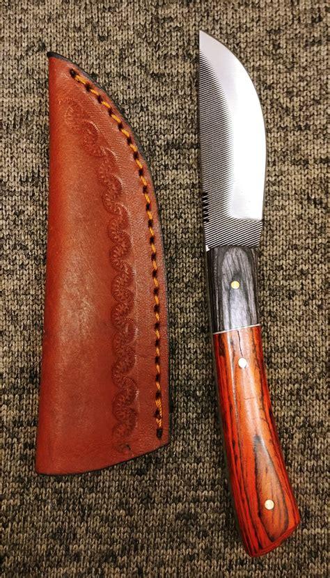 skinner file knife tool steel fixed blade  outdoor