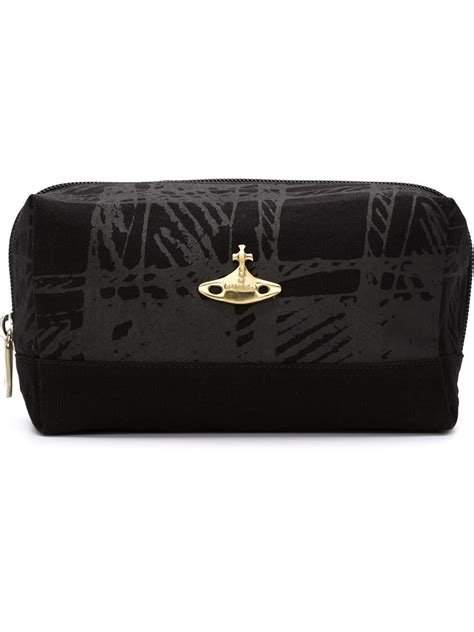 Vivienne Westwoods Label Checked Canvas Handbag by Vivienne Westwood Anglomania Scribble Tartan Wash Bag In