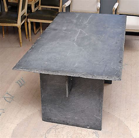 slate dining room table rectangular slate table from the loire valley at 1stdibs