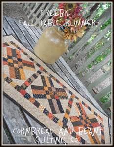 free fall table runner pattern 171 cornbread beans