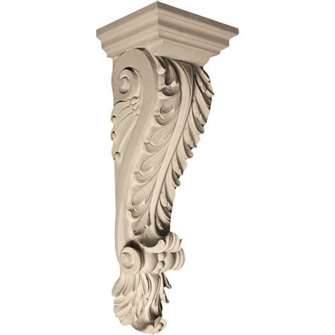 Plastic Corbels pearlworks cb 120 acanthus leaf with resin corbel architecturaldepot