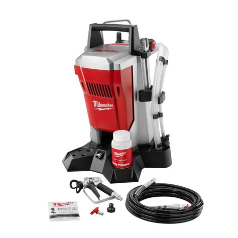 using a home depot paint sprayer milwaukee airless paint sprayer m4910 10 at the home depot