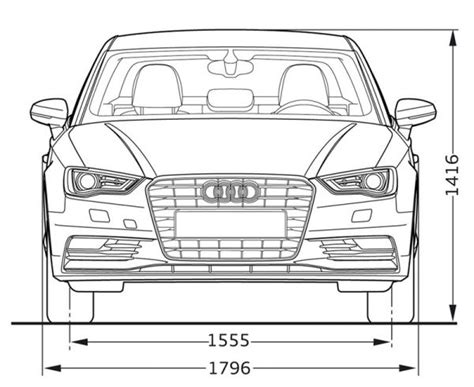 Audi A3 Sportback Abmessungen by Audi A3 Limousine Abmessungen Technische Daten L 228 Nge