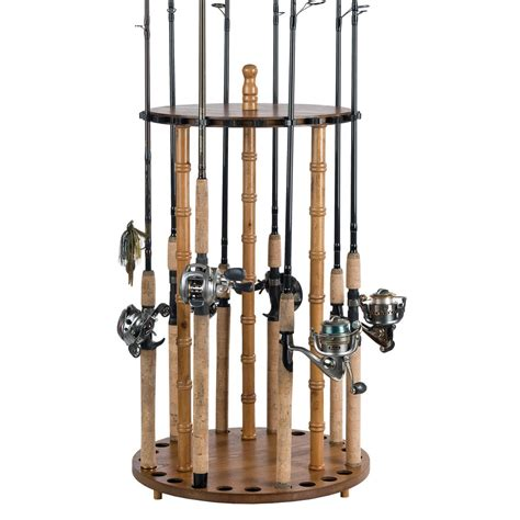 Fishing Rod Racks For Home by Organized Fishing 24 Capacity Deluxe Floor Rod Rack