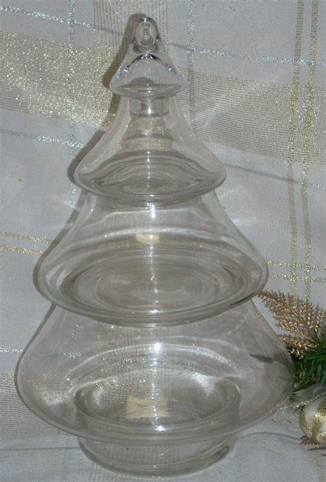 chridtmas tree glass jar cox and cox morgantown glass tree stack apothecary jar trees glass tree and apothecaries