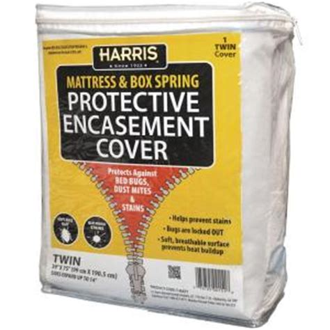 bed bug covers home depot harris mattress or box spring protective encasement cover
