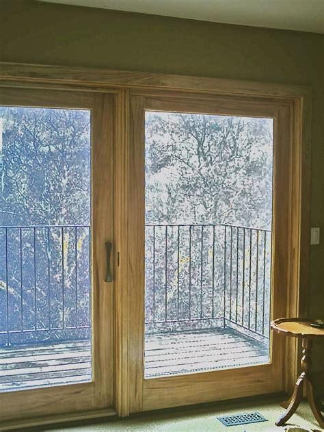 Interior Patio Doors Woodgrained Patio Doors