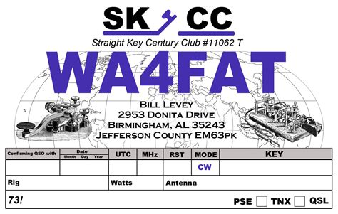 Qsl Cards Wa4fat Qsl Card Template Photoshop