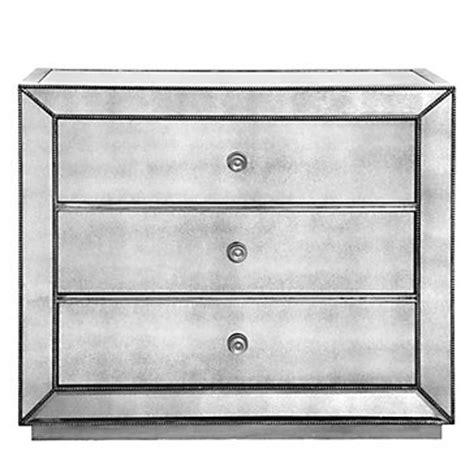 omni mirrored 3 drawer chest omni mirrored 3 drawer hall chest porter cerulean