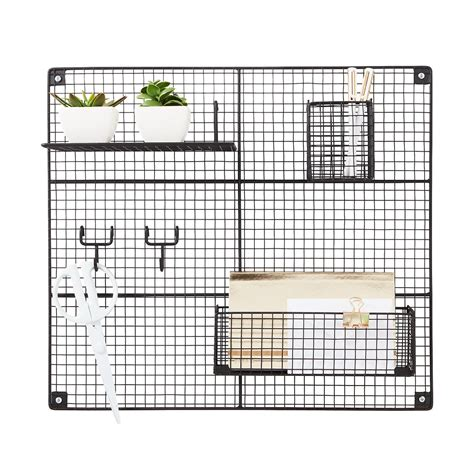 black wire wall grid components the container store