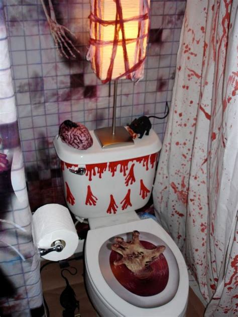 decorations bathroom to scare away your guests