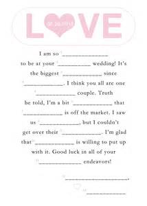 printable wedding mad libs template invites and mad libs on mad libs happily