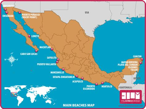 map of east coast of mexico mexico desert map